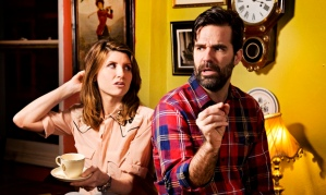 Sharon Horgan and Rob Delaney at Norman's Coach and Horses, Soho.